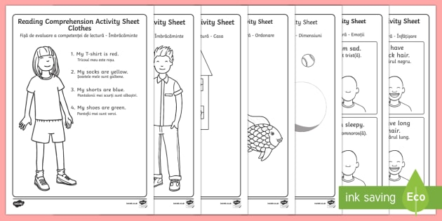 Reading Comprehension Worksheets English Romanian