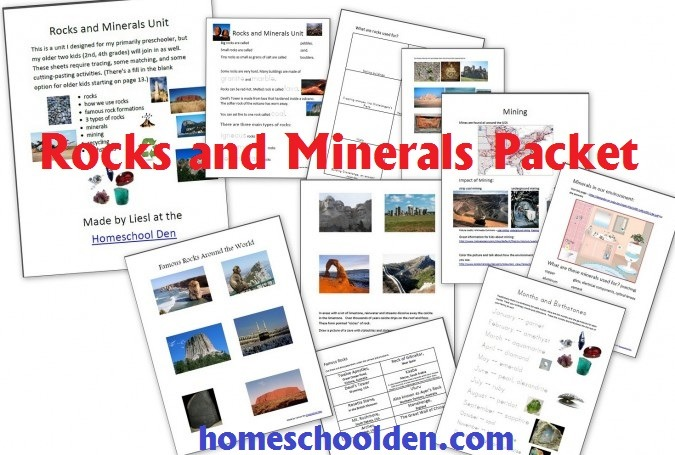 Free Rocks And Minerals Packet (25 Pages)