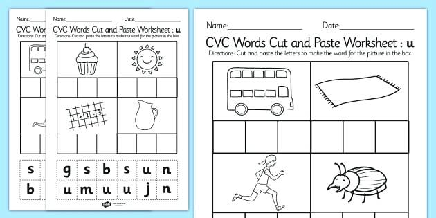 Blending Phonemes Worksheets