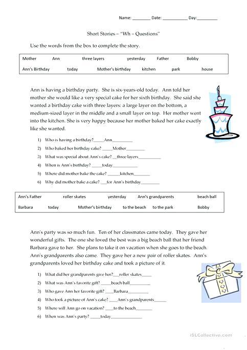 Kindergarten Listening Comprehension Worksheets – Myprinters Info