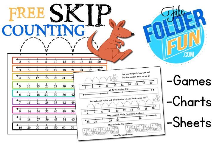 Skip Counting Chart & Worksheets