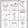 Writing Cvc Words Worksheets