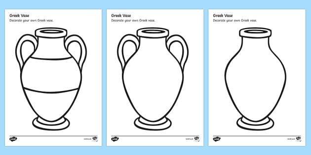 Greek Vase Design Sheet