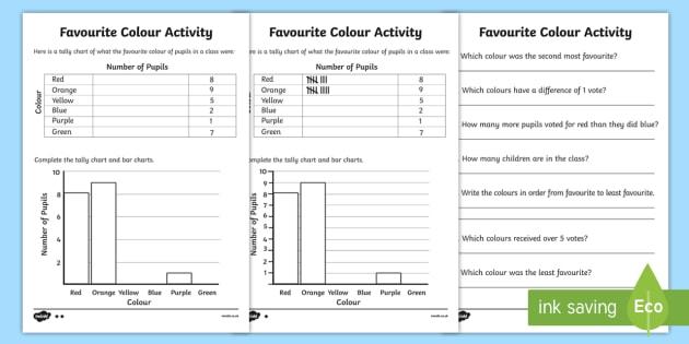 Tally Chart Worksheets