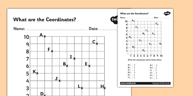 What Are The Coordinates Worsksheet