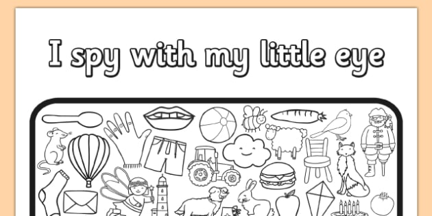 I Spy With My Little Eye Colouring Worksheet   Activity Sheet