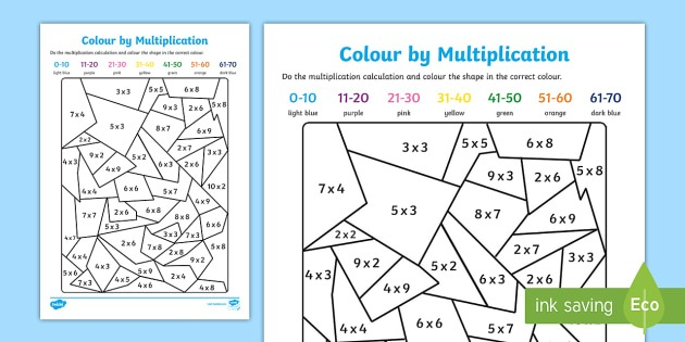 Colour By Multiplication