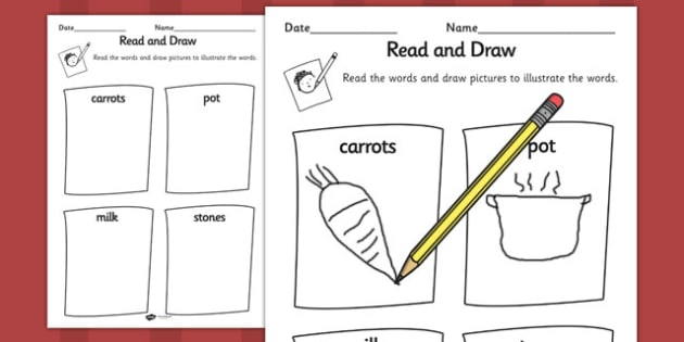 Stone Soup Read And Draw Worksheet