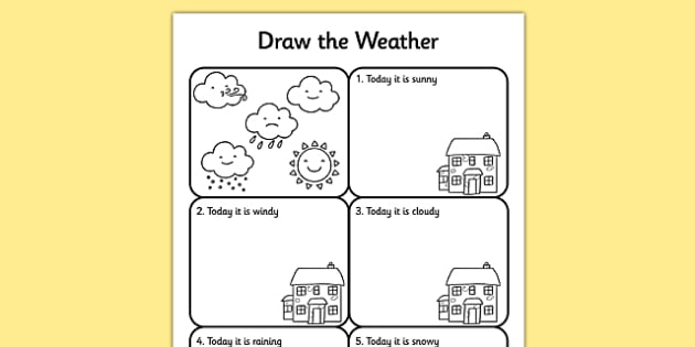 Draw The Weather Worksheet   Worksheet