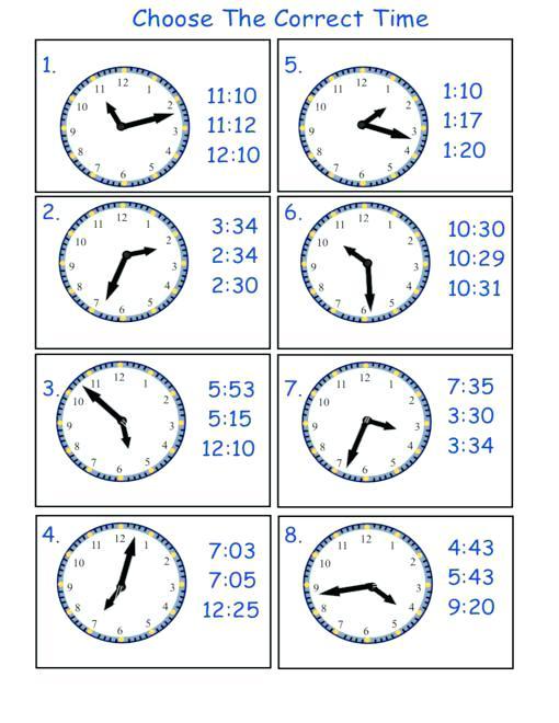 Telling Time Worksheets Printable – Worksheet Template