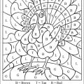 Thanksgiving Multiplication Worksheets Coloring
