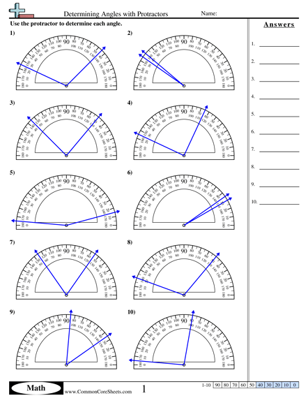 Angles Worksheets