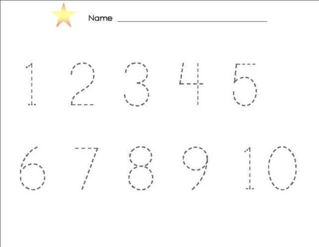 Number Tracing Worksheets 1