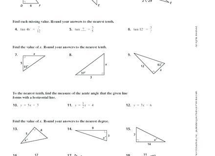 Trig Ratio Worksheet Worksheet Trigonometric Ratios Answers Sin