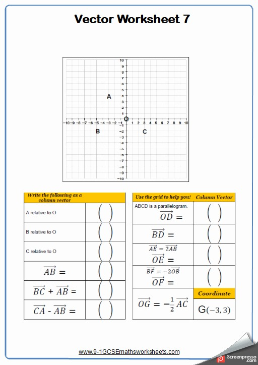 Vector Addition Worksheet With Answers Unique Vectors Worksheets