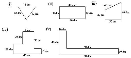 Worksheet On Perimeter Of A Figure