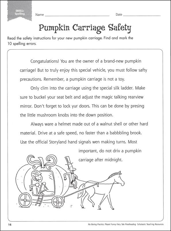 Funny Fairy Tale Proofreading, Scholastic Teaching Resources