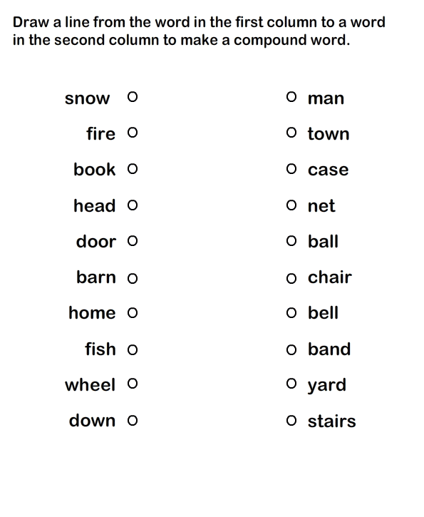 Compound Words Worksheet 6