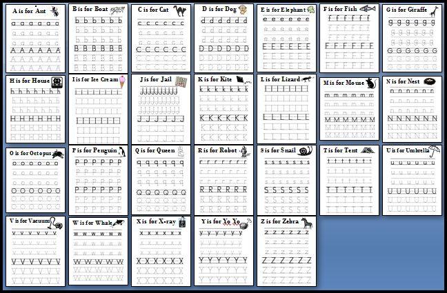 Abc Writing Worksheets