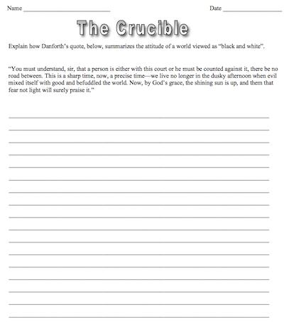 Crucible By Arthur Miller