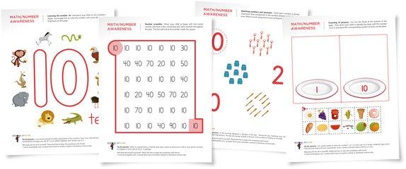 Number 10 Worksheets