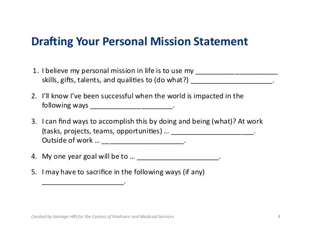 15+ Personal Mission Statement Worksheet