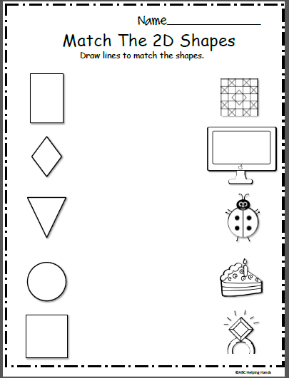 Free Shapes Math Worksheet