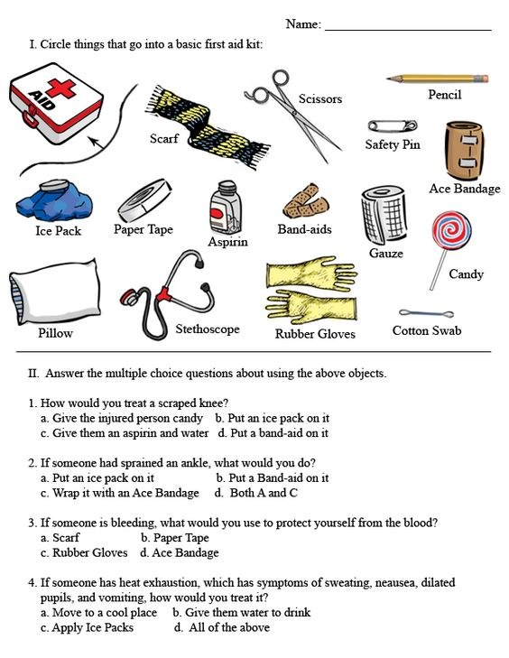 Hd Wallpapers First Aid Kit Worksheets For Kids
