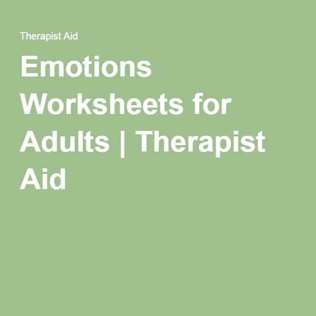 Emotions Worksheets For Adults