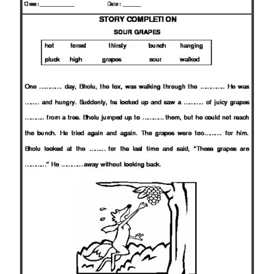 A2zworksheets  Worksheets Of Story Writing