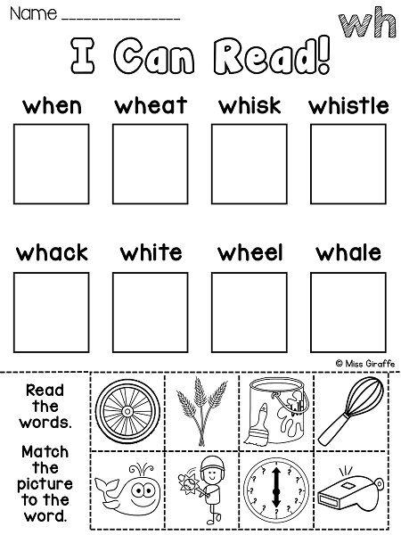 Wh Worksheets & Activities {no Prep!}