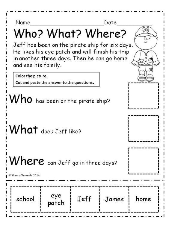 2nd Grade Comprehension Worksheets Short Story Prehension Worksheets