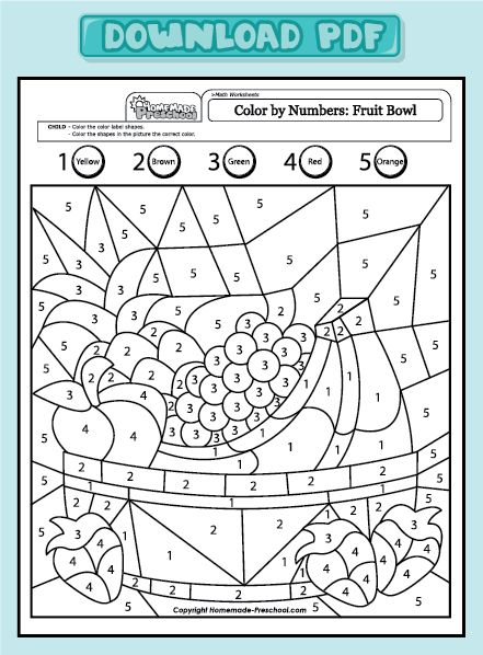 Related Pictures Color By Number Printables