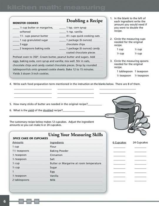 Kitchen Math Workbook