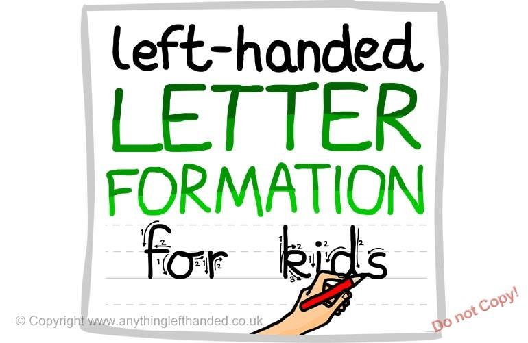 Left Handed Letter Formation Guide (download)