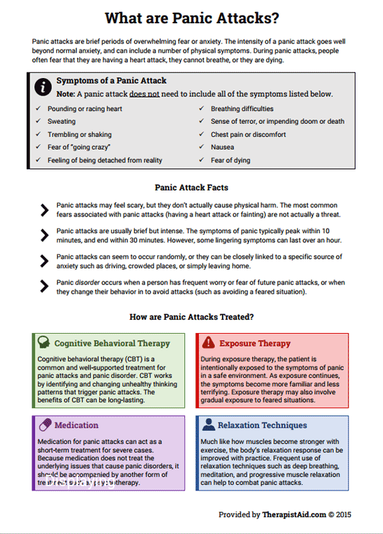 Panic Attack Info Sheet (worksheet