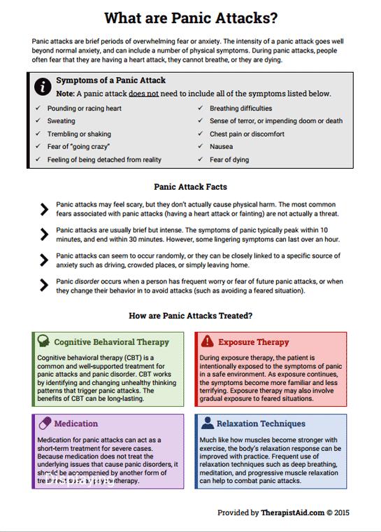 Panic Attack Info Sheet (worksheet