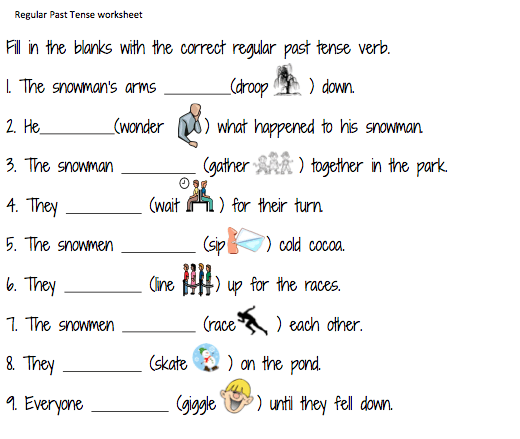 Regular Past Tense Verb Activities