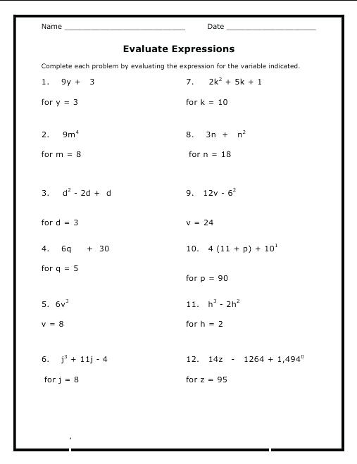 8th Grade Math Worksheets With Answers Image Grade Maths