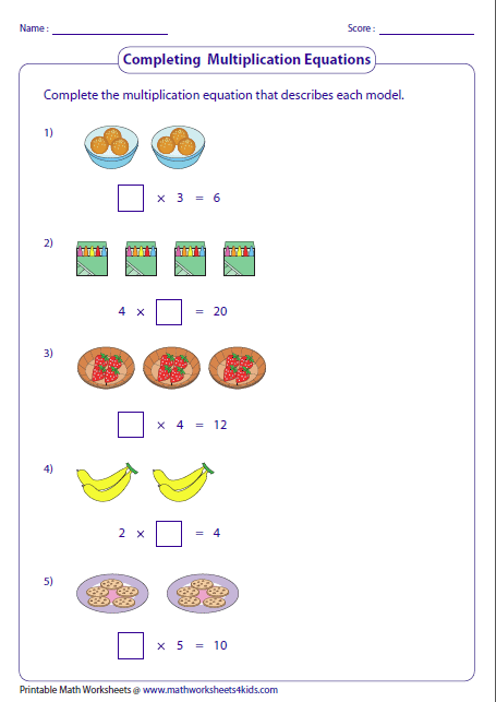 Complete The Multiplication Sentence That Best Describes The Array