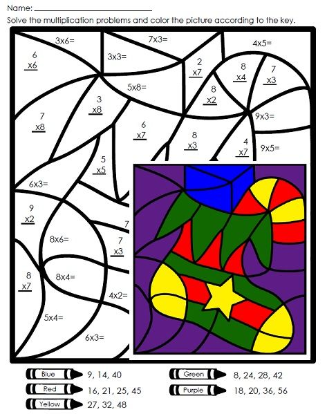 Practice Basic Multiplication Facts With This Christmas Mystery