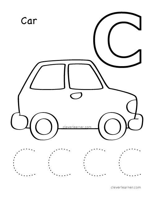 C Is For Cat Alphabet Writing Worksheet For  Preschool  Children