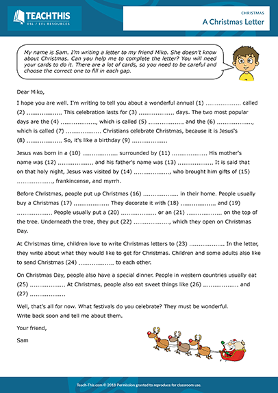 Esl Christmas Activities Games Worksheets