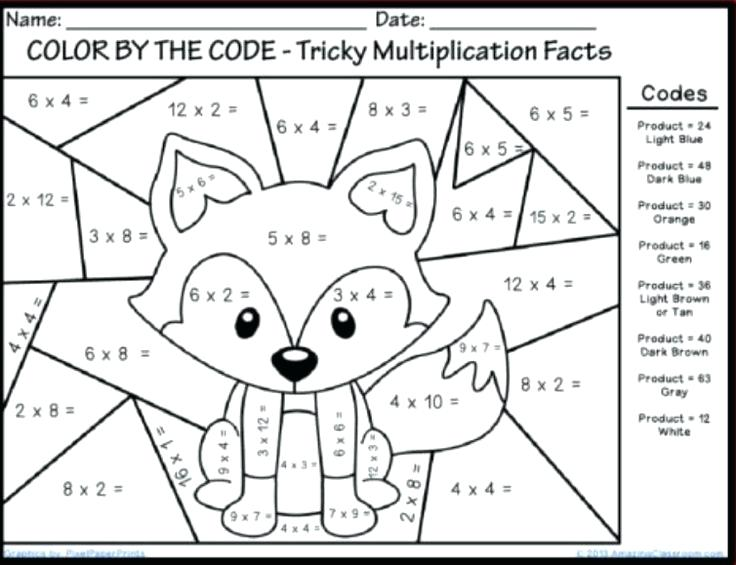 Addition Coloring Worksheets For First Grade Pages Free High