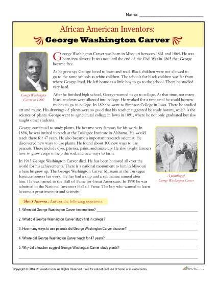 African American Inventors  George Washington Carver