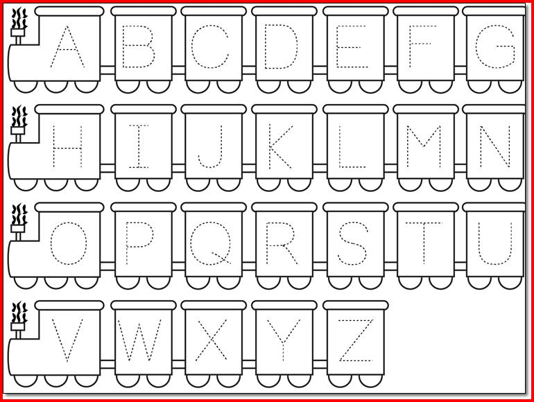 Alphabet Sheets For Kindergarten
