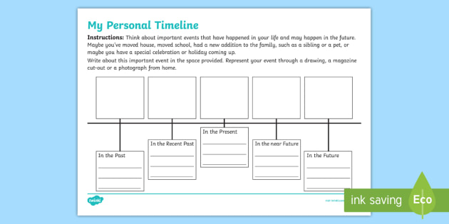 New   My Personal Timeline Worksheet