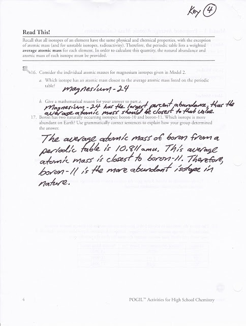 Atomic Structure Chemistry Worksheet Answers Chemistry Atomic