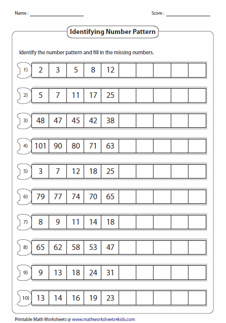 Here's A Site With A Wealth Of Number Pattern Pages