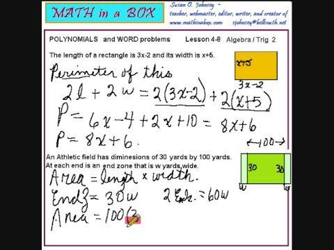 Polynomial Equation Word Problems (solutions, Examples, Videos